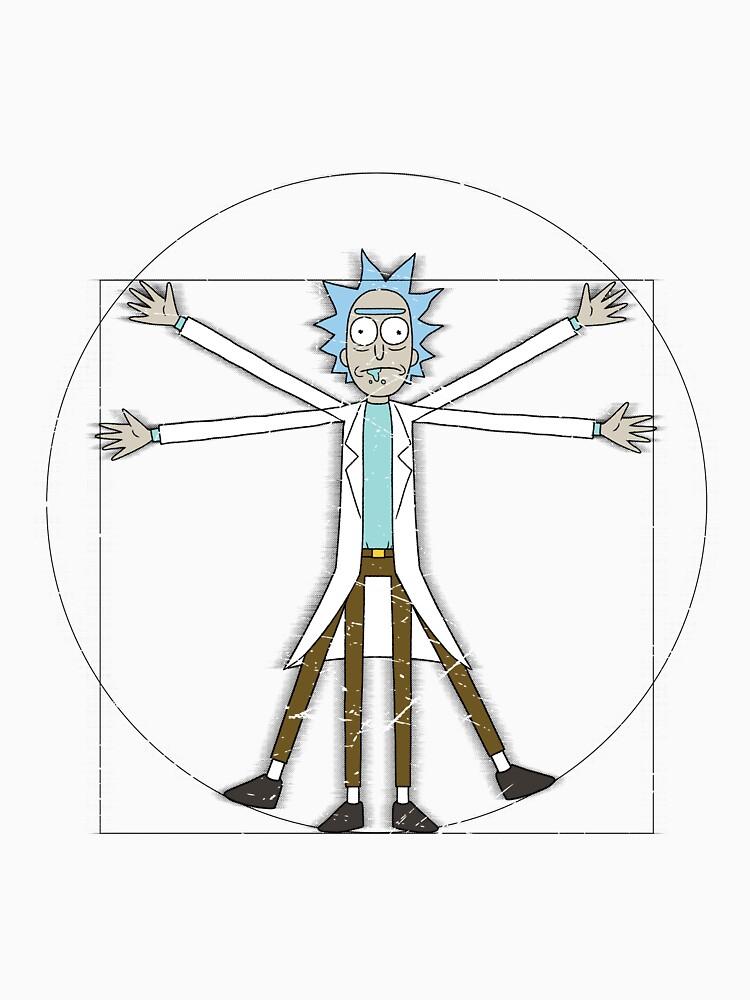 Vitruvian Rick | Unisex T-Shirt