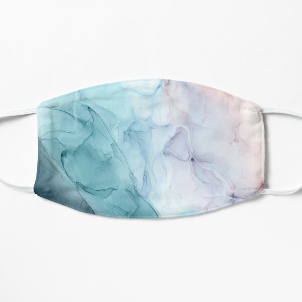 Beachy Pastel Flowing Ombre Abstract 1 Flat Mask