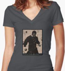 Kung Fu Joe Women's Fitted V-Neck T-Shirt