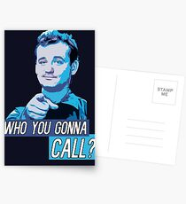 Who You Gonna Call? Ghostbusters! Postcards