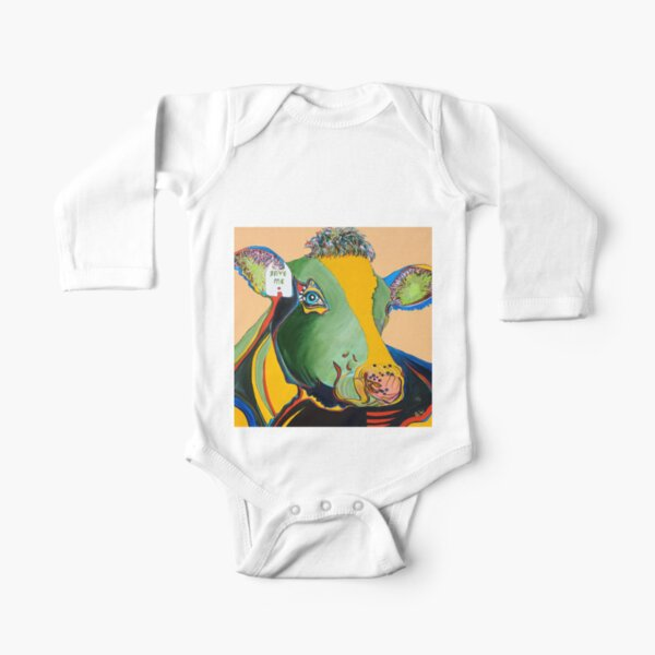 Activist Cow Long Sleeve Baby One-Piece