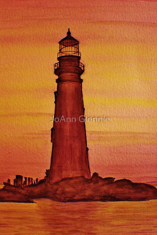 Lighthouse at Dusk by JoAnn Glennie