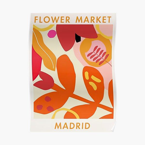Flower Market Madrid Poster