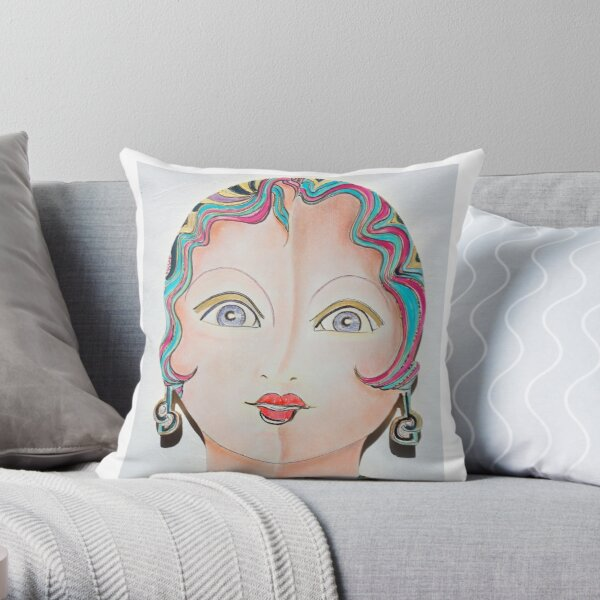 Dolly Dolores Throw Pillow