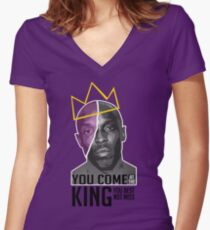 Omar Little - The Wire Women's Fitted V-Neck T-Shirt