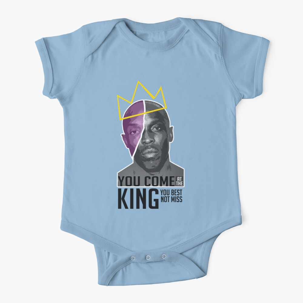 Omar Little - The Wire - Version 1 With Black Words Baby One-Piece
