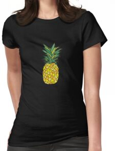 cute pineapple fruit Womens Fitted T-Shirt