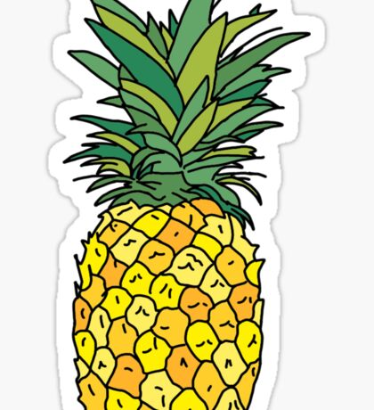 cute pineapple fruit Sticker
