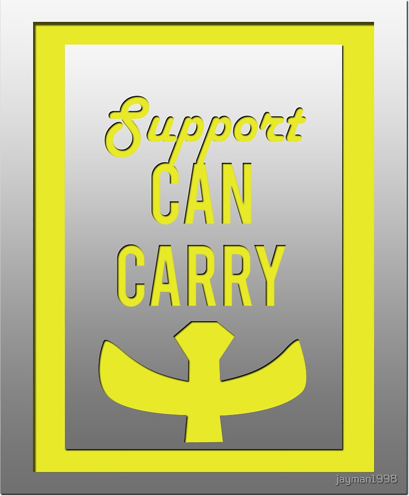"""""""Support can carry"""" design in bright yellow by jayman1998"""