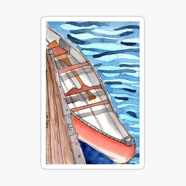 Red Canoe Sticker