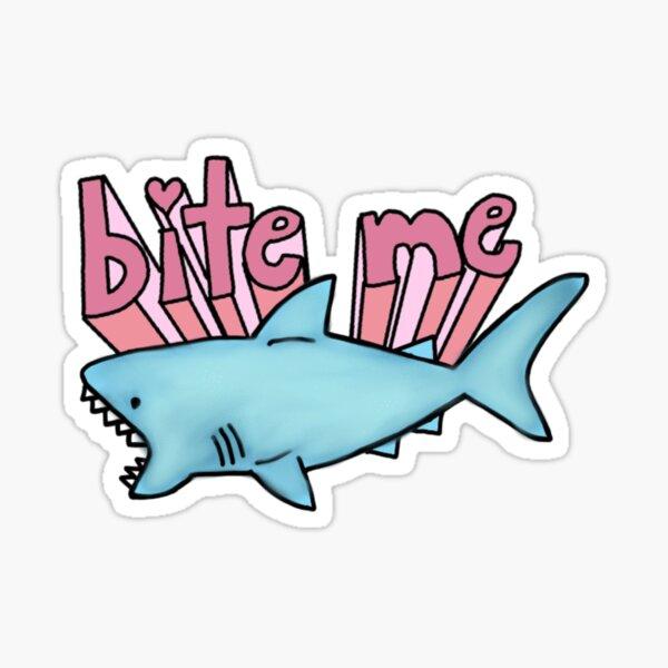 bite me shark Sticker