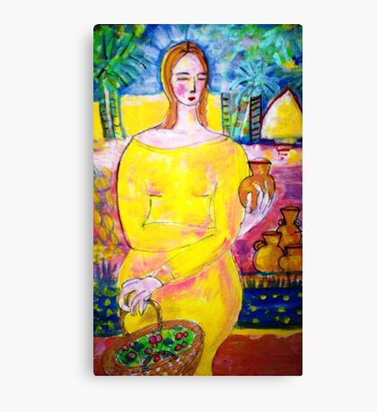 Lady with a pot Canvas Print