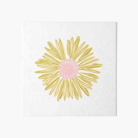 Gold Flower Art Board Print