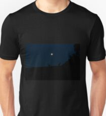 Silhouette of Kangaroos with Full Moon T-Shirt