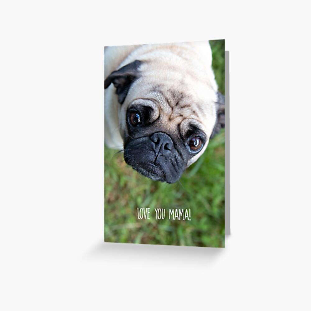 Love You Mama Greeting Card Greeting Card
