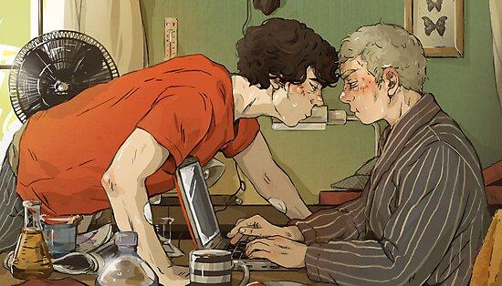 BBC Sherlock: A hot summer afternoon by sweetlitlekitty