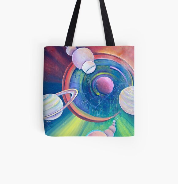 Planetary Alignment All Over Print Tote Bag