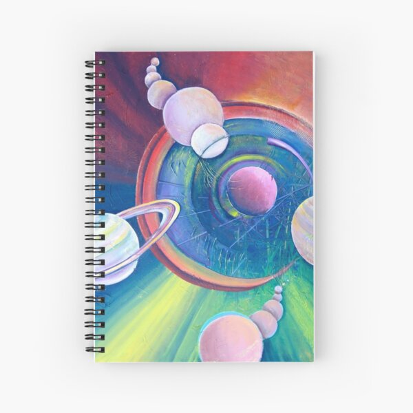 Planetary Alignment Spiral Notebook