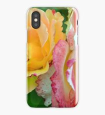 Yellow and pink flowers background. iPhone Case/Skin