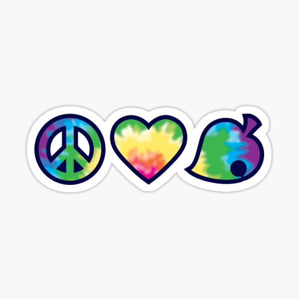 Peace, Love, Nook Sticker