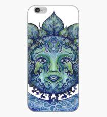 Blue Spiritual Sun and Moon iPhone Case