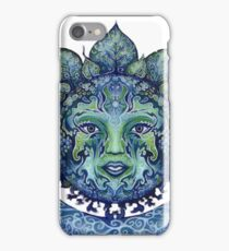Blue Spiritual Sun and Moon iPhone Case/Skin