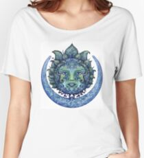 Blue Spiritual Sun and Moon Women's Relaxed Fit T-Shirt
