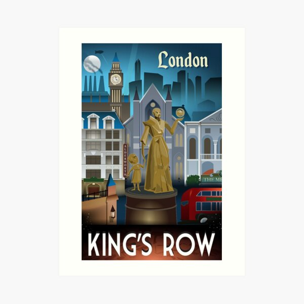 King's Row travel poster Art Print