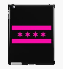 Chicago Flag - Pink & Black iPad Case/Skin