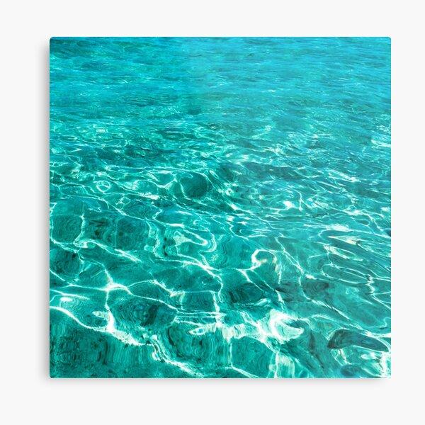 Turquoise Blue Ocean Ripples  Metal Print