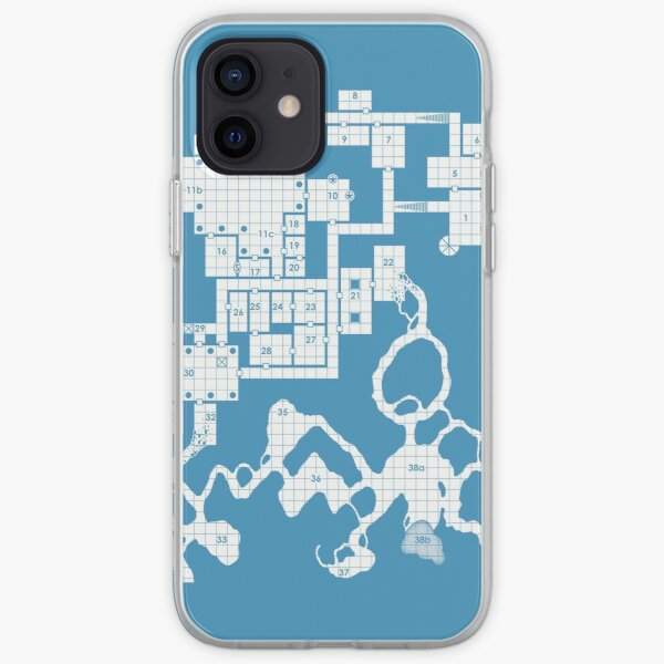 Old School Blue Dungeon Map #2 iPhone Soft Case