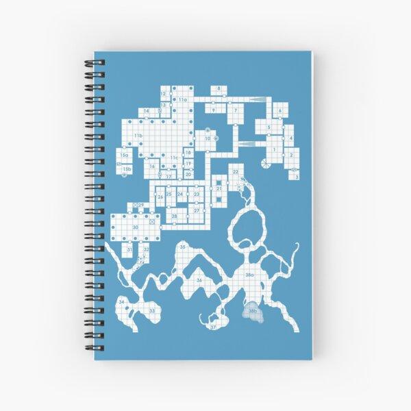 Old School Blue Dungeon Map #2 Spiral Notebook
