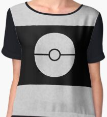 Pokemon CAMO White Women's Chiffon Top