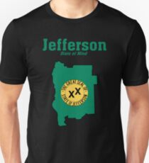 The State of Jefferson (Jefferson State of Mind) Unisex T-Shirt
