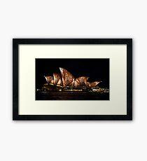 Bark Sails - Sydney Vivid Festival Framed Print