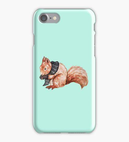 Squirrel in Winter iPhone Case/Skin