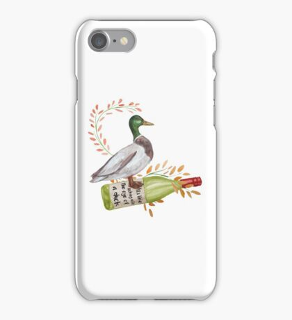 In the eye of a duck iPhone Case/Skin