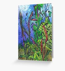Reeds and Grass, Otmoor Nature Reserve, Greeting Card
