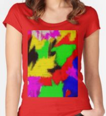 oil pastel Women's Fitted Scoop T-Shirt