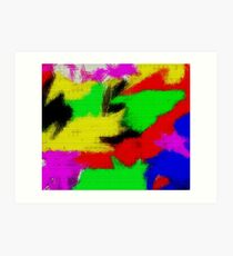oil pastel Art Print