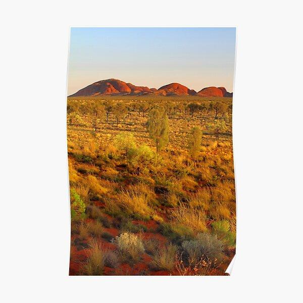 Kata Tjuta at sunrise Poster