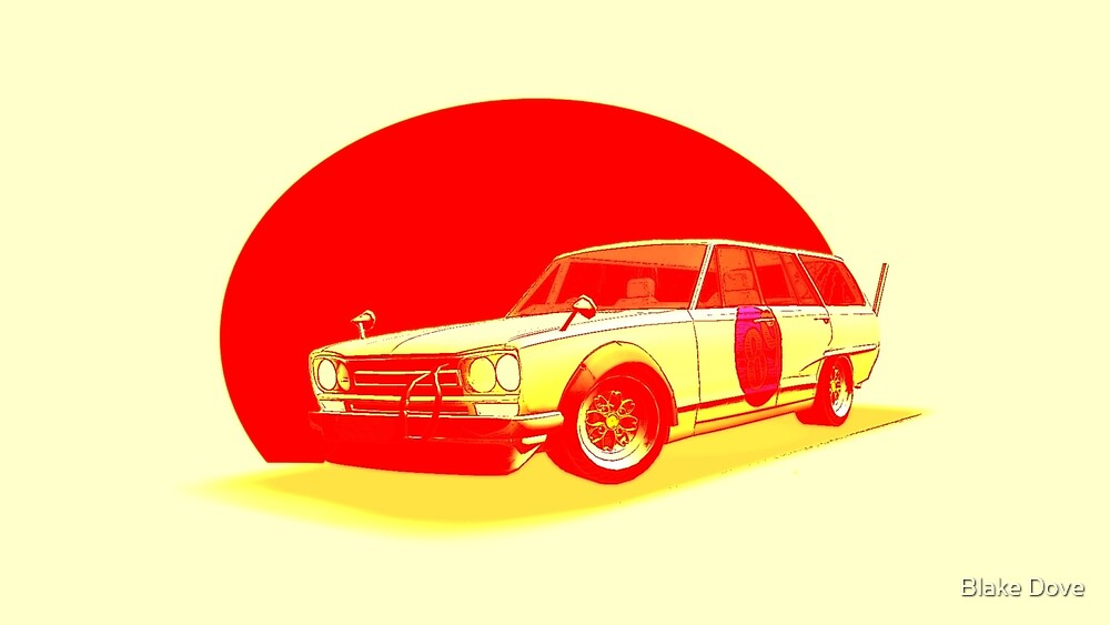 Shakotan Wagon (Red Sun) by Blake Dove