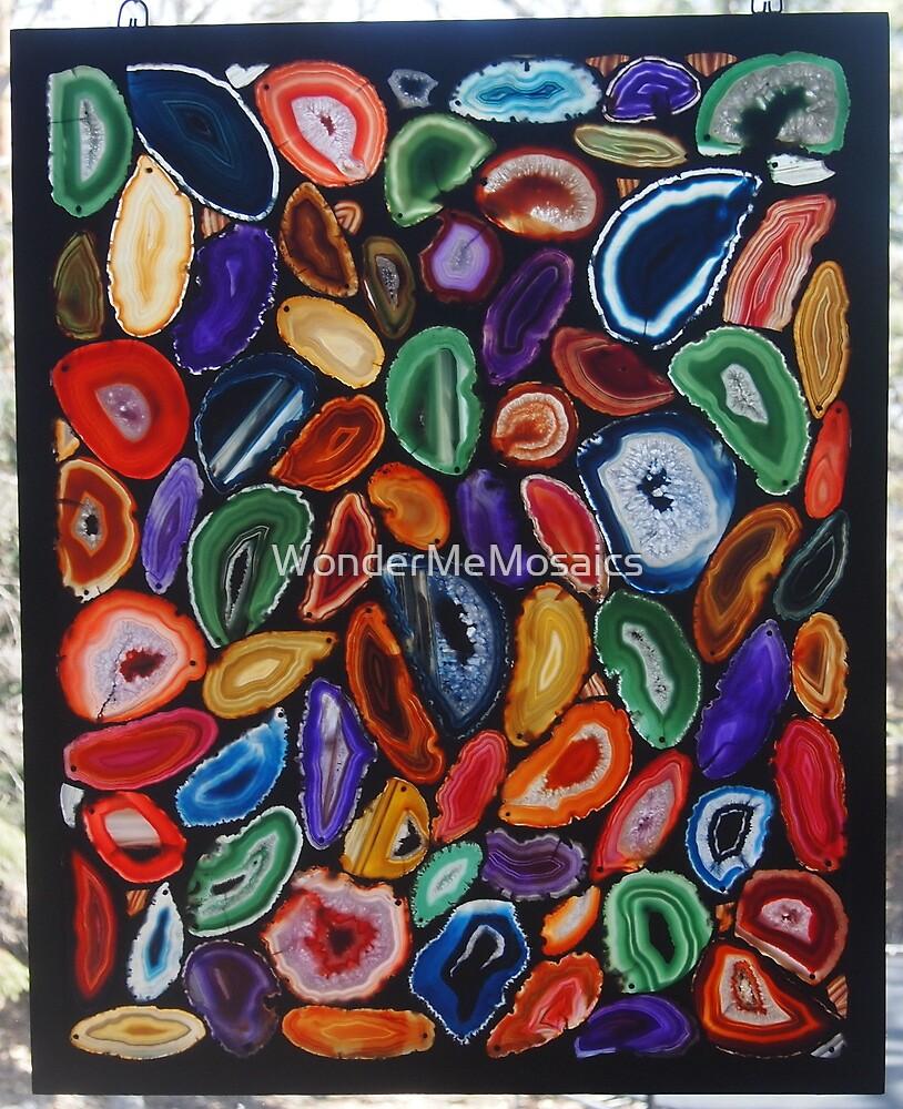Agate Slice Art Piece - Print by WonderMeMosaics