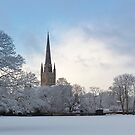 Norwich Cathedral in the Snow by Nick Jermy
