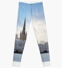 Norwich Cathedral in the Snow Leggings