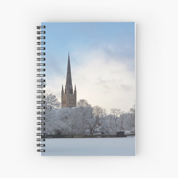 Norwich Cathedral in the Snow Spiral Notebook