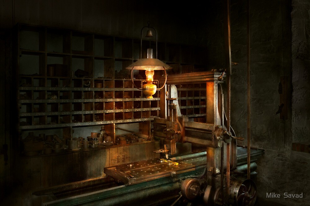 Machinist - At the millers  by Michael Savad