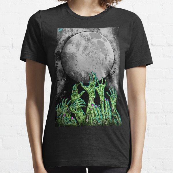 zombie hands under moonlight Essential T-Shirt