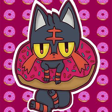 Litten Donut by coco4892