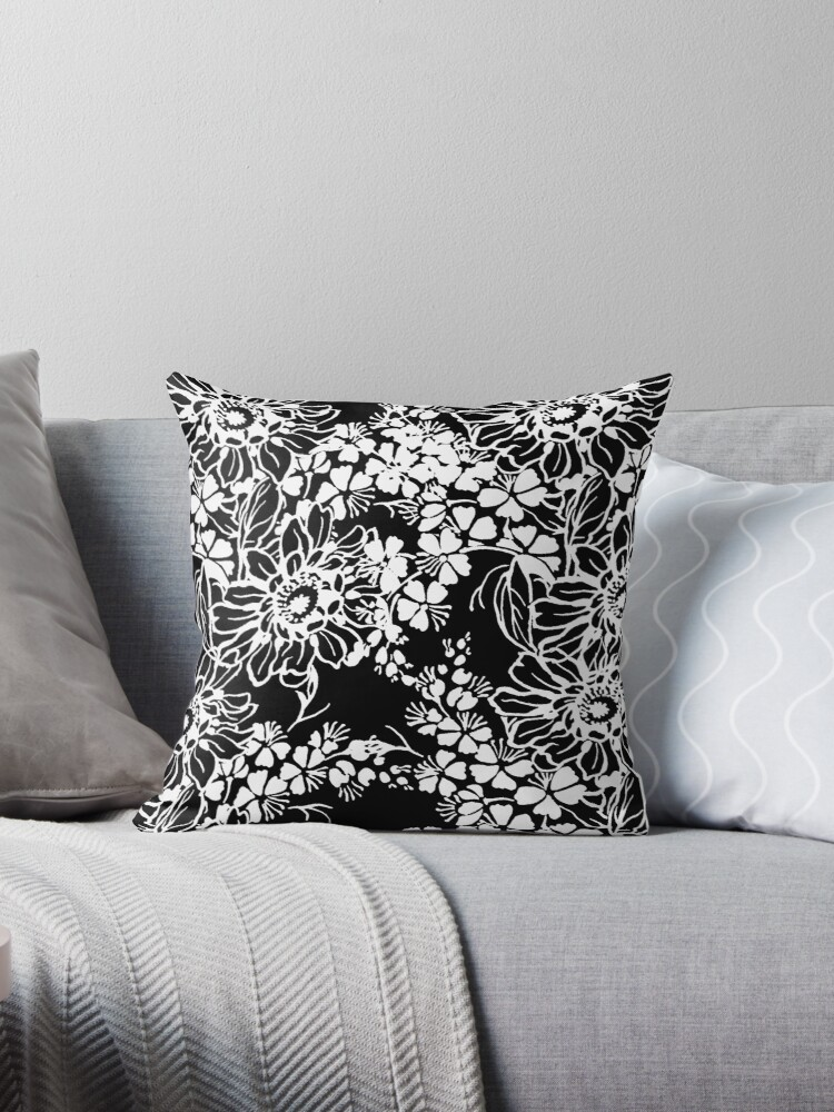 Black and White Floral by Greenbaby